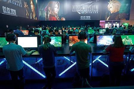 Besucher auf der Messe Gamescom im Jahr 2019. Foto: Henning Kaiser/dpa