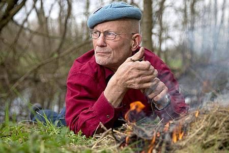 Rüdiger Nehberg, Survival-Experte und Aktivist für Menschenrechte, ist tot. Foto: Axel Heimken/picture alliance / dpa