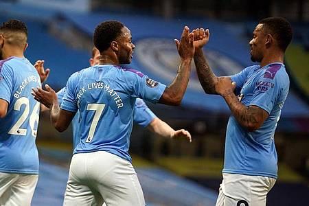 Manchester City setzte sich souverän gegen den FC Arsenal durch. Foto: Dave Thompson/Nmc Pool/PA Wire/dpa