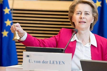 Ursula von der Leyen, Präsidentin der Europäischen Kommission, hatte gerechte Mindestlöhne für Arbeitnehmer in der EU versprochen. Foto: Etienne Ansotte/European Commission/dpa