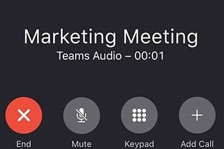 Mit Sicherheit kein Bild: Teams im Auto ist für die Fahrerin oder den Fahrer natürlich ein reiner Audio-Chat. Foto: Microsoft/dpa-tmn