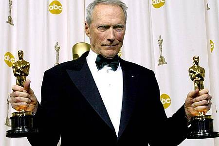 Beste Regie, Bester Film:Für seinen Film «Million Dollar Baby» hat Clint Eastwood zwei Oscars gewonnen. Foto: ARMANDO ARORIZO/EPA/dpa