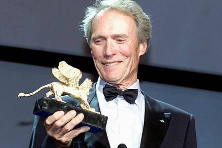 Für sein Lebenswerk wurde Clint Eastwood vor 20 Jahren in Venedig mit dem Goldenen Löwen geehrt. Foto: Claudio Onorati/ANSA/dpa