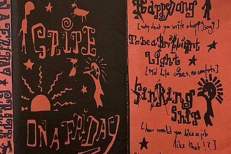 Die handschriftlichenNotizen, die zu einer Demo-Kassette mit sechs frühen Songs der britischen Band Radiohead gehören. Foto: Omega Auctions/PA Media/dpa