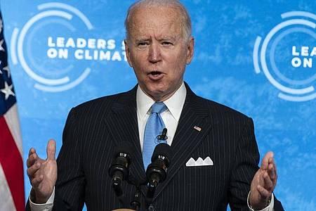 «Dieser Gipfel ist ein Anfang.» Der von US-Präsident Biden ausgerichtete Klimagipfel gilt als wichtige Vorbereitung für die Weltklimakonferenz im November in Glasgow. Foto: Evan Vucci/AP/dpa