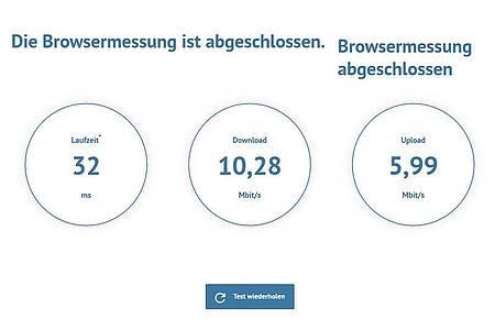 Nur knapp 10 Megabit im Download, wo der Vertrag doch 16 Megabit vorsieht? Für viele Verbraucherinnen und Verbraucher ist die Leistung ihres Anschlusses nach wie vor nicht zufriedenstellend. Foto: breitbandmessung.de/dpa-tmn