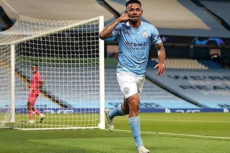 Gabriel Jesus von Manchester City feiert seinen Treffer zum 2:1 gegen Real Madrid. Foto: Nick Potts/PA Wire/dpa