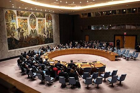 Blick auf eine Sitzung des Sicherheitsrats der Vereinten Nationen. Foto: Ralf Hirschberger/dpa