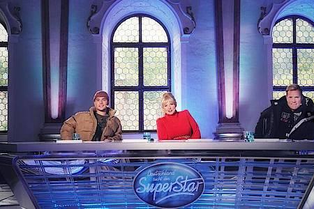 Die Jury von «Deutschland sucht den Superstar»: Mike Singer (l-r), Maite Kelly und Dieter Bohlen. Foto: Stefan Gregorowius/TVNOW/dpa