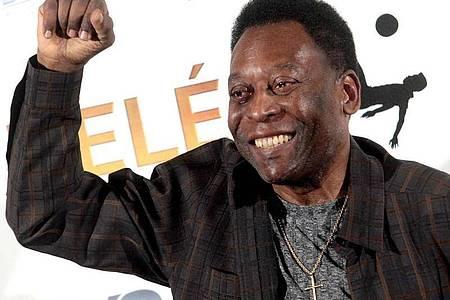 Pelé setzt auf gute Laune als «beste Medizin». Foto: Mourad Balti Touati/EPA/dpa
