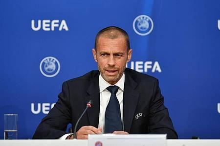 Aleksander Ceferin kann sich derzeit noch keine Zuschauer in den Europapokal-Endrunden vorstellen - das kann sich aber ändern. Foto: Harold Cunningham/UEFA über Getty Images/dpa