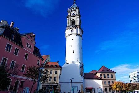 Der Reichenturm in der Altstadt von Bautzen. Foto: Jens Büttner/dpa-Zentralbild/dpa