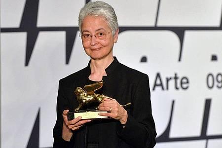 Auf der Biennale in Venedig wurde AdrianPiper bereits mit dem Goldenen Löwen geehrt. Foto: Andrea Merola/ANSA/dpa