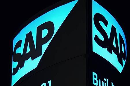 «SAP verzeichnet mit Kernprogrammen in der Cloud kräftiges Wachstum. Foto: Uwe Anspach/dpa