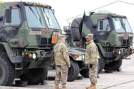 «Defender Europe 2020» gilt als größte Truppen-Verlegeübung der Nato seit 25 Jahren. Foto: Bernd Wüstneck/dpa-Zentralbild/dpa