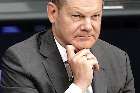 Bundesfinanzminister Olaf Scholz (SPD) in einer Sitzung des Deutschen Bundestages. Foto: Kay Nietfeld/dpa