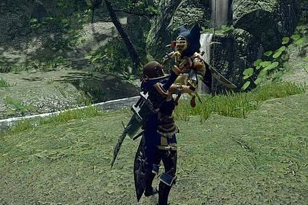 Monsterjäger bei der Arbeit. In «Monster Hunter Rise» stehen etliche Waffen zur Verfügung. Foto: Capcom/dpa-tmn