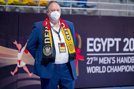 DHB-Präsident Andreas Michelmann. Foto: Sascha Klahn/dpa
