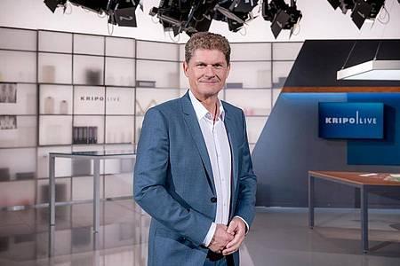 Moderator von «Kripo live»: Gerald Meyer. Foto: MDR/Andreas Lander/dpa
