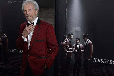 Clint Eastwood bei der Premiere von «Jersey Boys» in Los Angeles. Foto: Paul Buck/EPA/dpa