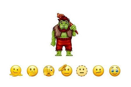 Der Troll ist da: Die neuen (und alten) Emojis haben ihren Meister gefunden. Foto: Emojipedia/dpa-tmn