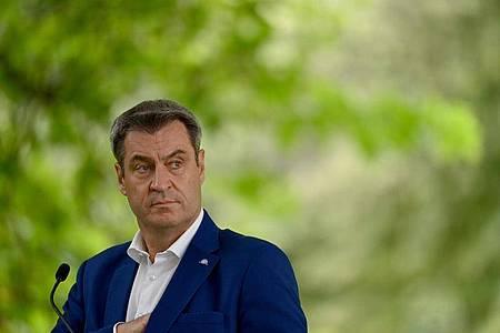 Markus Söder, Ministerpräsident von Bayern, äußert sich zur geplanten erweiterten Testpflicht. Foto: Peter Kneffel/dpa