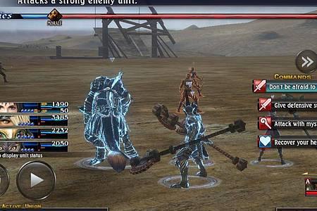Ungewohnt viel Auswahl im Kampf für ein mobiles Spiel: «The Last Remnant Remastered» wurde gut von der Konsole auf das Smartphone portiert. Foto: Square Enix/dpa-tmn