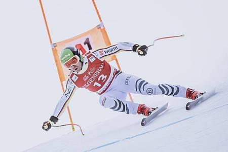 Andreas Sander belegte beim Supr-G in Kitzbühel den neunten Rang. Foto: Expa/Johann Groder/APA/dpa