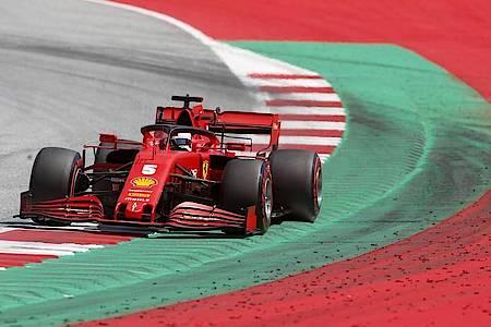 Fährt in Spielberg nur hinterher: Ferrari-Pilot Sebastian Vettel. Foto: Darko Bandic/AP/dpa