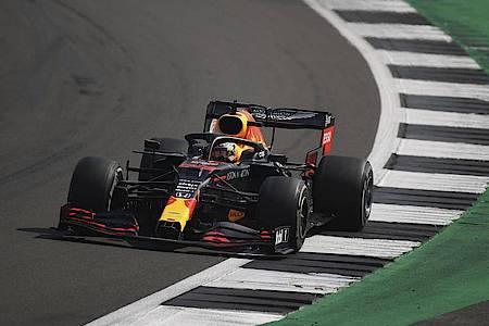 Niederländischer Sieger in Silverstone: Max Verstappen. Foto: Bryn Lennon/PoolGetty/AP/dpa