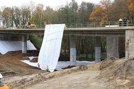 Abgehangene Brücke in Löhne