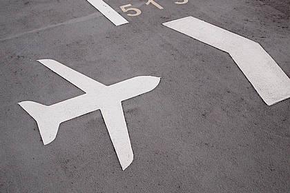 Wegweiser Flughafen