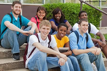 Gruppe von Auszubildenden