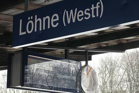 Bahnhof Löhne Bahnsteig