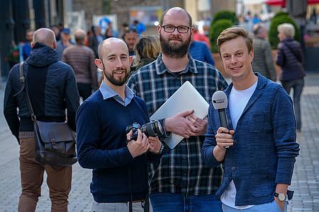 Die Journalisten auf der Expedition EU