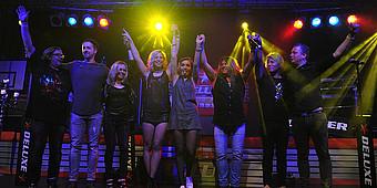 Die Radioband Deluxe auf der Bühne