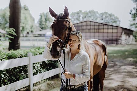 Ina Atig und Pferd