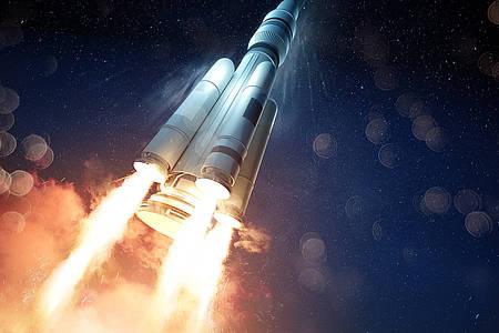 Rakete startet