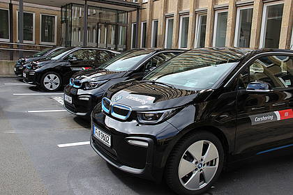 Carsharing-Fahrzeuge am Herforder Kreishaus